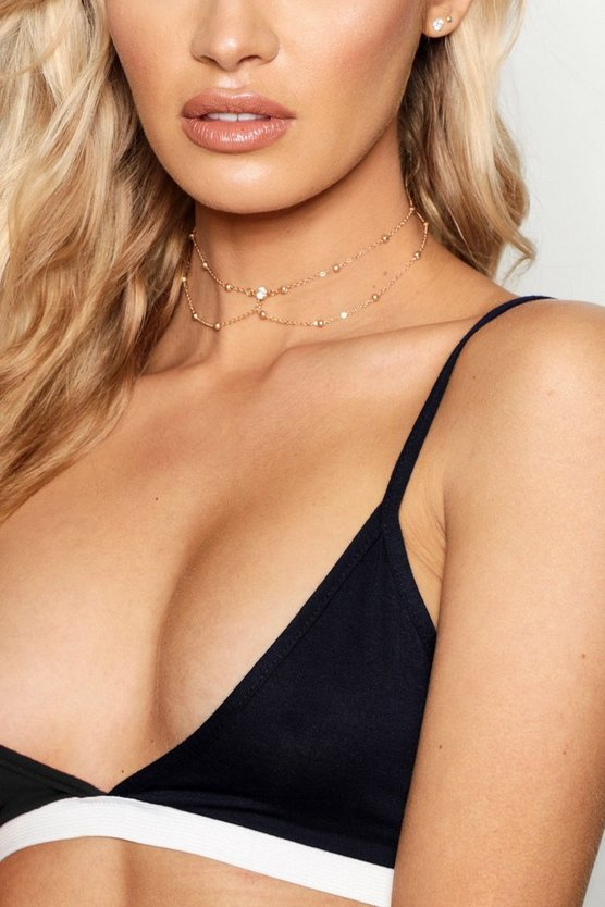 Laura Diamante Double Layer Chain Choker