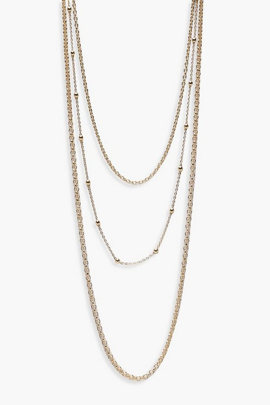 Josie Layered Chains Necklace