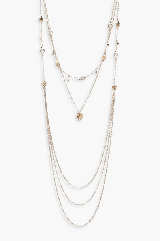 Kelly Multi Layered Coin & Star Necklace