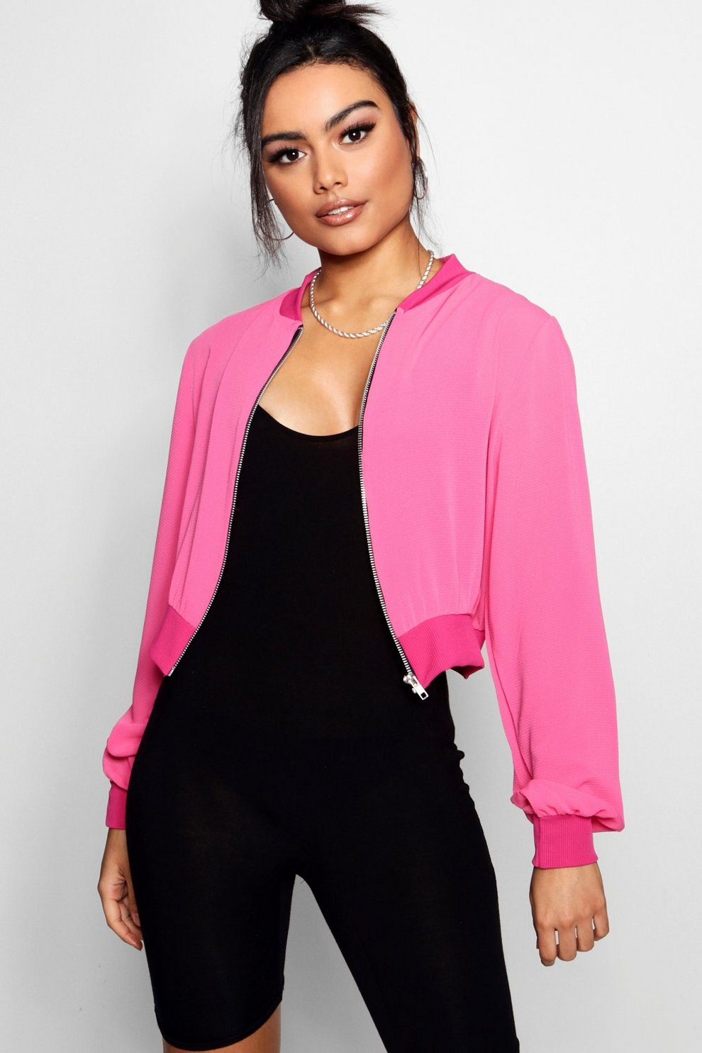 Boohoo Woven Bomber Outlet Newest Buy Authentic Online Lowest Price For Sale Original For Sale 6ugpEtG8XS