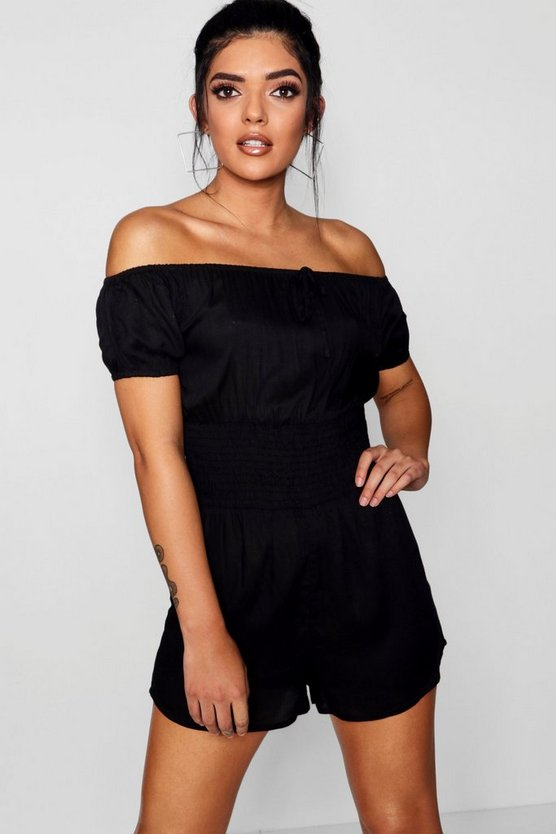 Esme Cap Sleeved Sheared Waist Playsuit