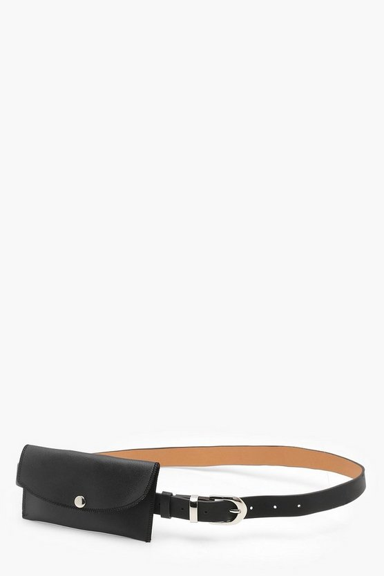 Lisa Skinny Belt With Pouch