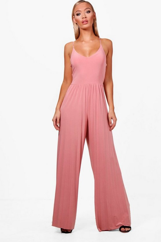 Mai Pleated Wide Leg Jumpsuit