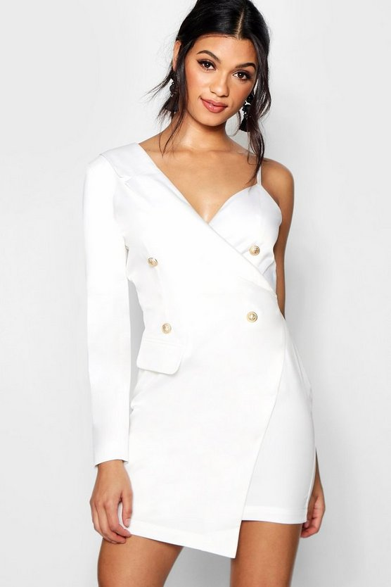 Madeleine Asymmetric Blazer Dress