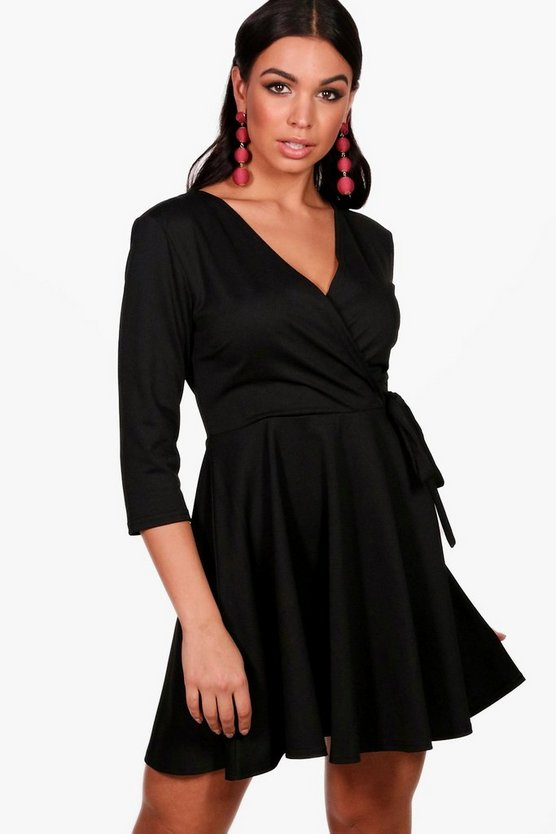 Holly Wrap Skater Dress