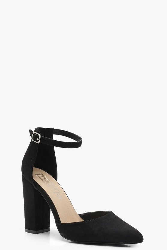 Pointed Ankle Strap Heels
