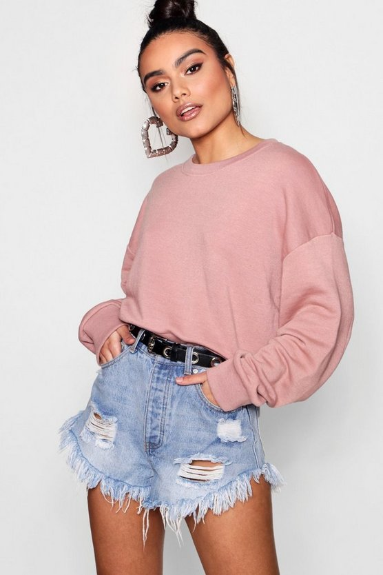 Oversized Slouchy Crop Sweat