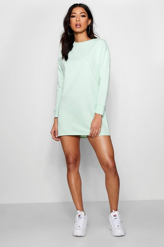 Round Neck Oversized Sweat Dress