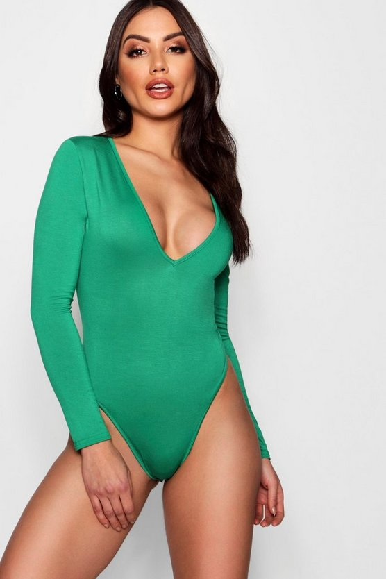 Plunge Long Sleeve Bodysuit
