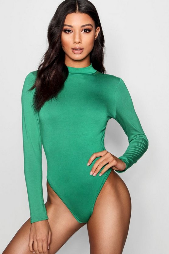 Milly High Neck Long Sleeve Bodysuit