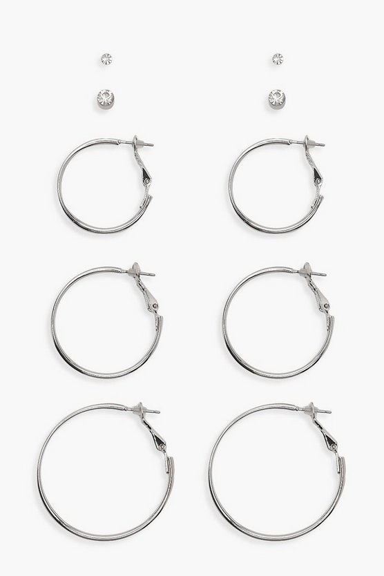 Hoop And Stud 5 Pack
