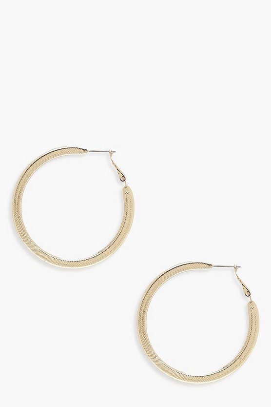 Hope Ridged Hoop Earrings