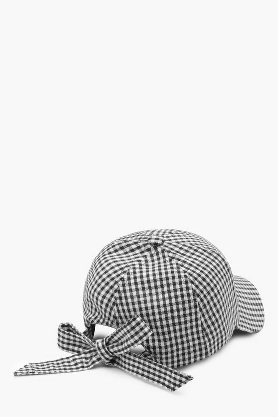 Gingham Bow Back Baseball Cap