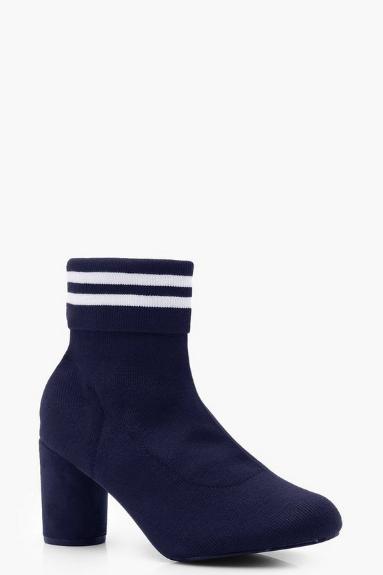 Sports Stripe Sock Boots
