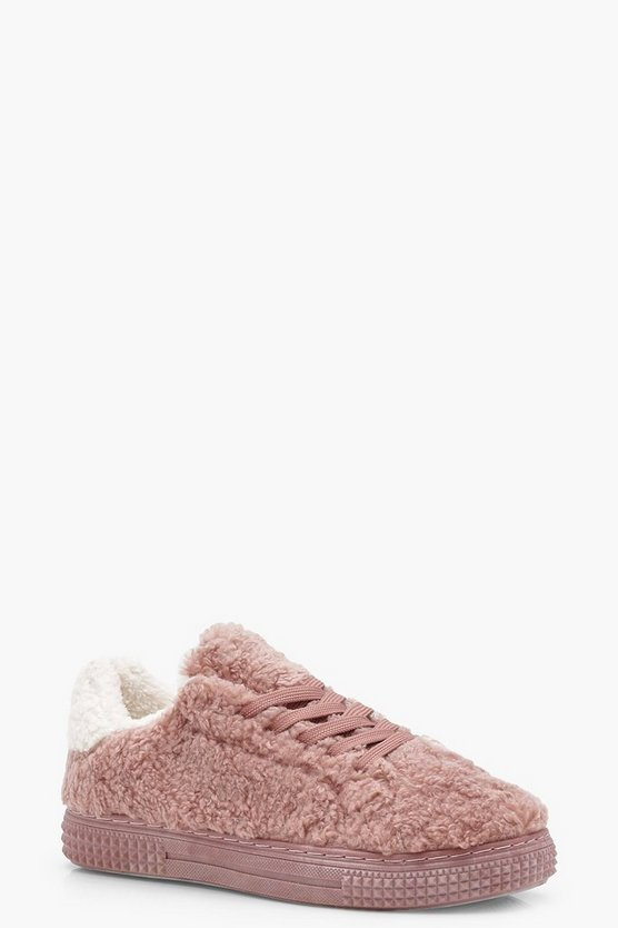 Grace Teddy Faux Fur Trainers