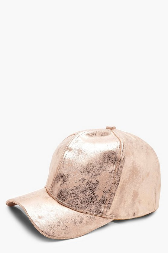 Rosie Cracked Metallic Baseball Cap