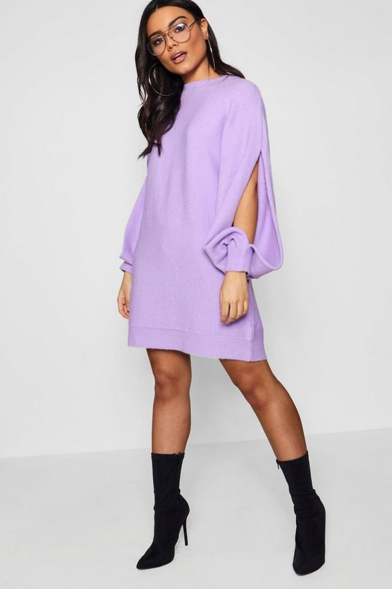 Hayley Oversized Batwing Split Sleeve Jumper