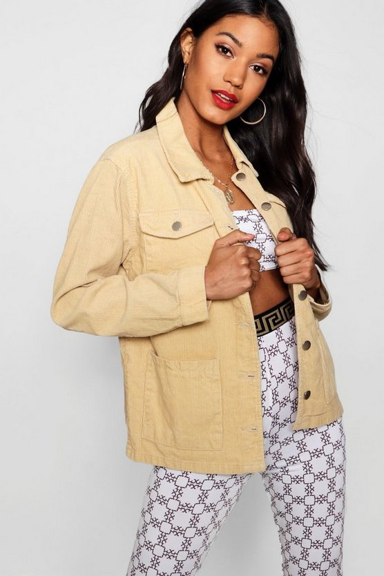Holly Oversized Cord Trucker Jacket