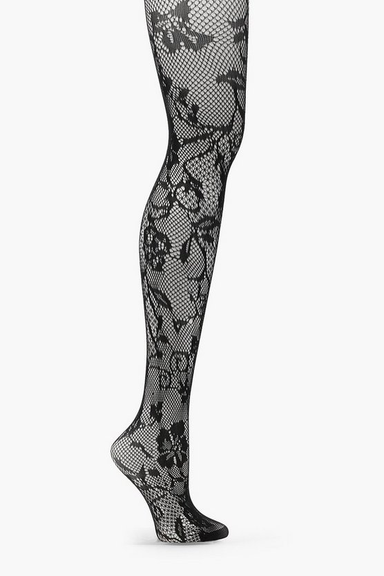 Lily Floral Fishnet Tights