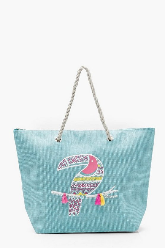 Lily Tassel Animal Rope Handle Beach Bag