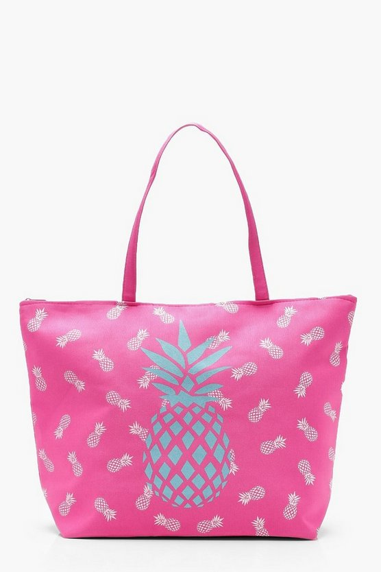 Summer Printed Canvas Beach Bag