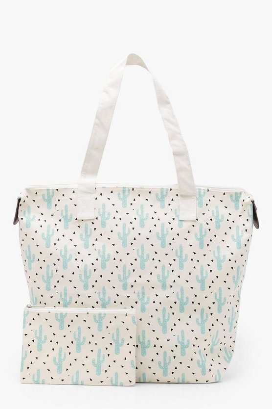 Amy Summer Printed Canvas Shopper With Matching Purse