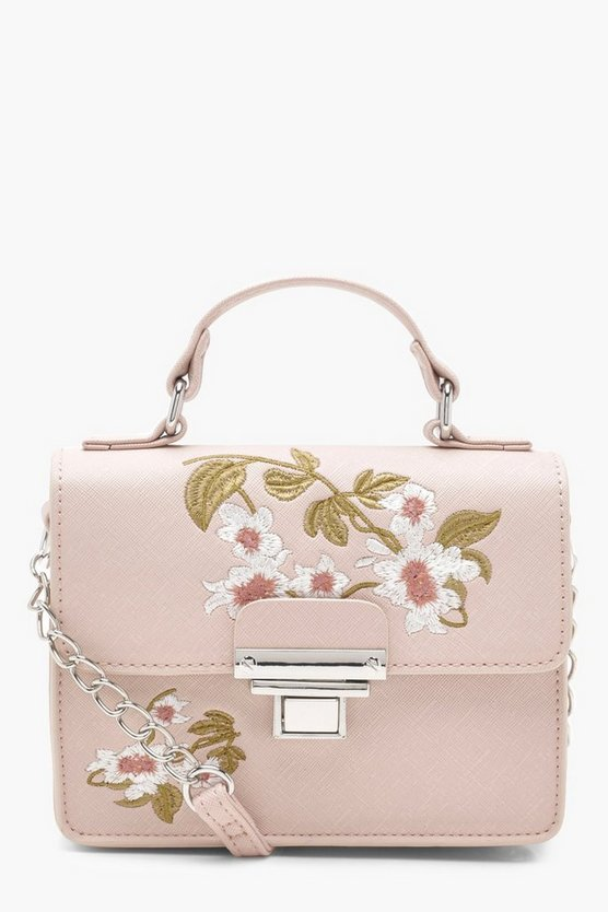 Embroidery & Lock Cross Body