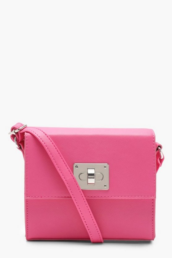 Erin Structured Lock Cross Body