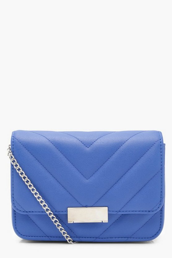 Chevron Quilted Mini Cross Body