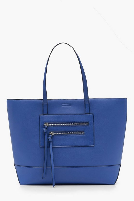 Double Zip Shopper Tote