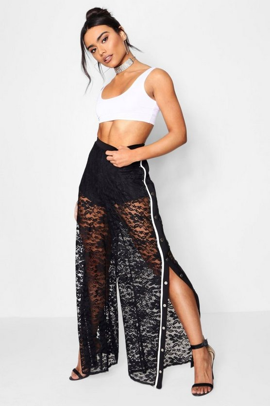 Lace Popper Side Trousers
