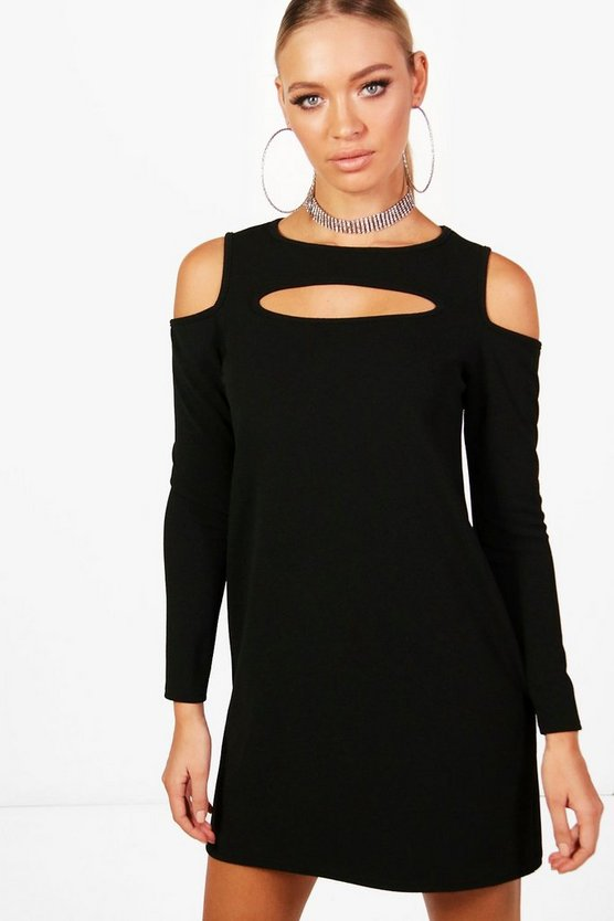 Mary Cold Shoulder Cut Out Shift Dress