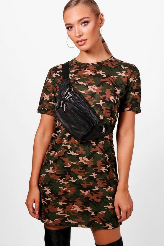 Allie Camo Oversized T-Shirt Dress