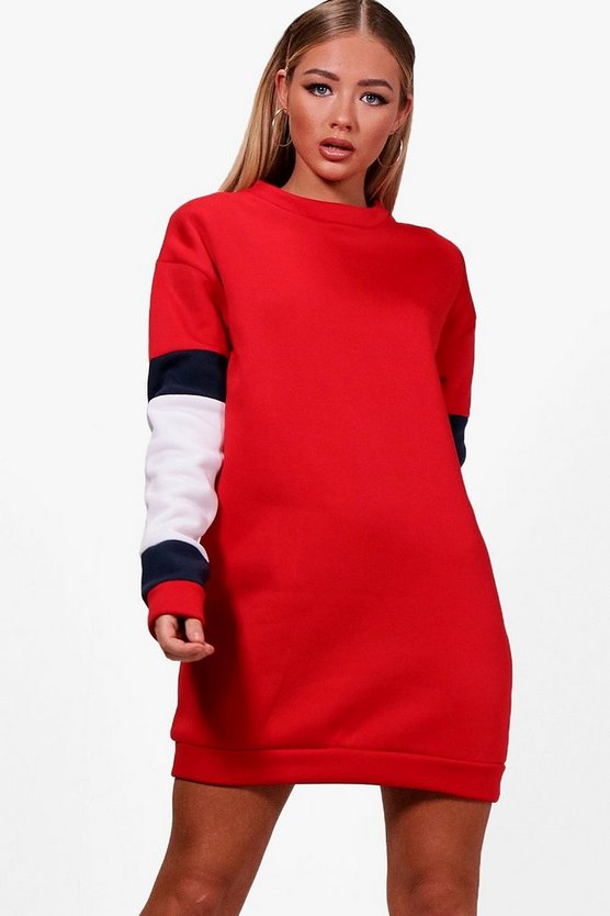 Mira Sports Colour Block Sweat Dress