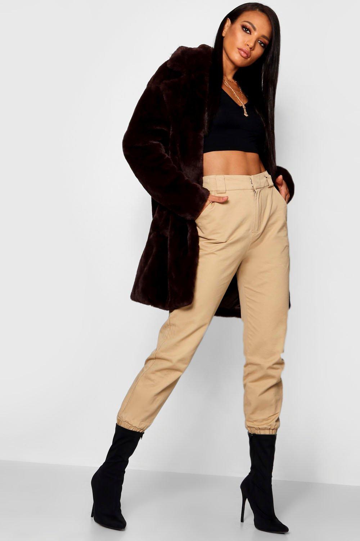 Купить Coats & Jackets, Boutique Объемное пальто из искусственного меха с воротником, boohoo