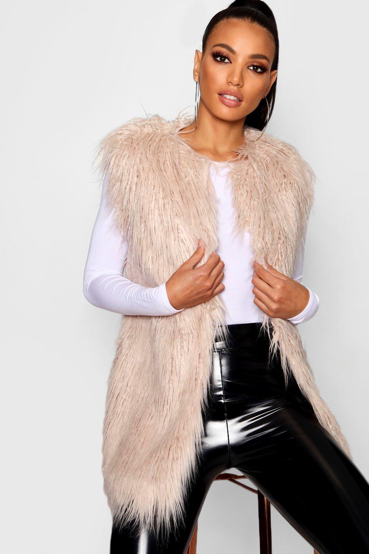 Купить Coats & Jackets, Mongolian Faux Fur Gilet, boohoo