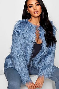 Anna cappotto in pelliccia sintetica stile Mongolia