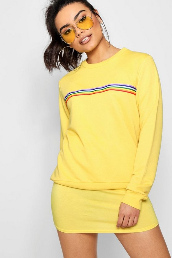 Kayla Bright Sports Stripe Sweat
