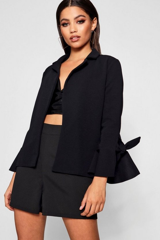 Holly Tie Sleeve Blazer