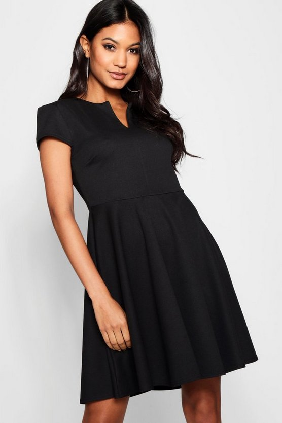 Laura V Neck Skater Dress