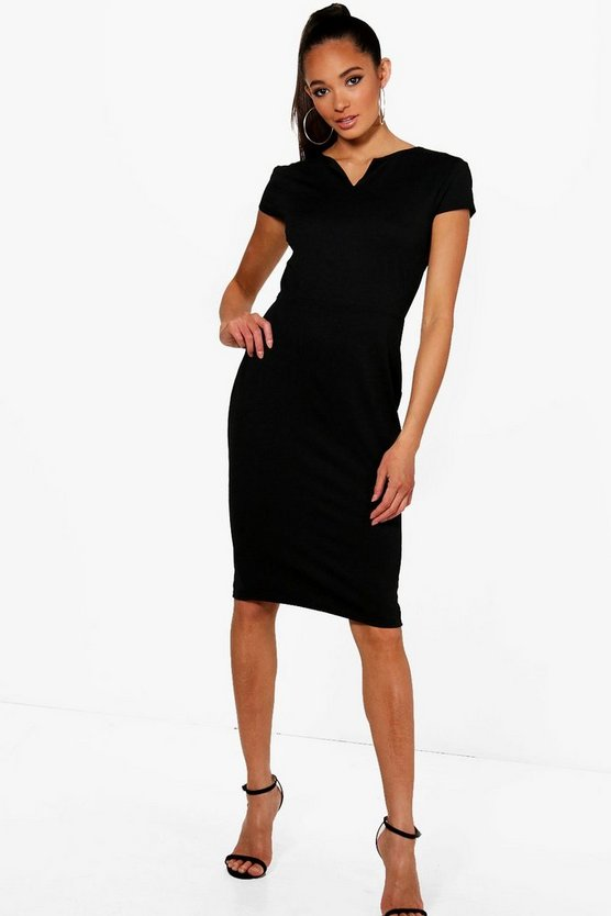 Lara V Neck Midi Dress