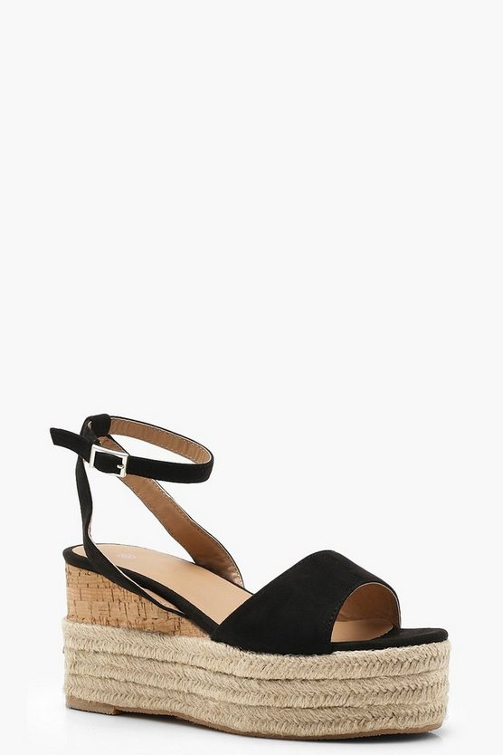 Megan Ankle Band Espadrille Flatforms
