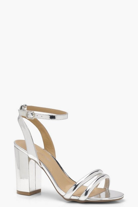 Keira Double Ankle Wrap Strap Heels