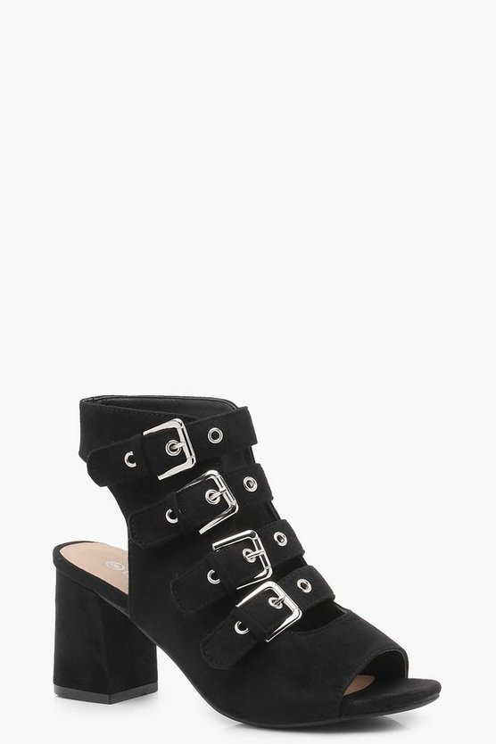 Multi Buckle Strap Shoe Boots