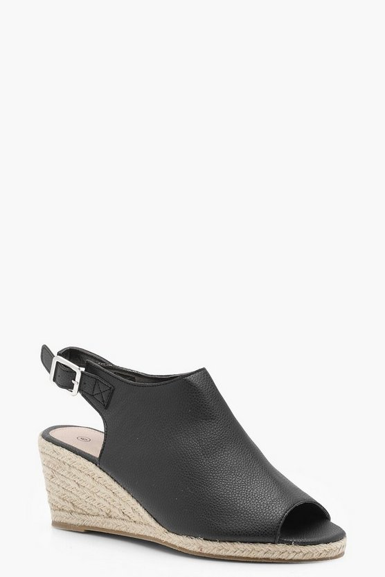 Hollie Mid Heel Mule Wedges