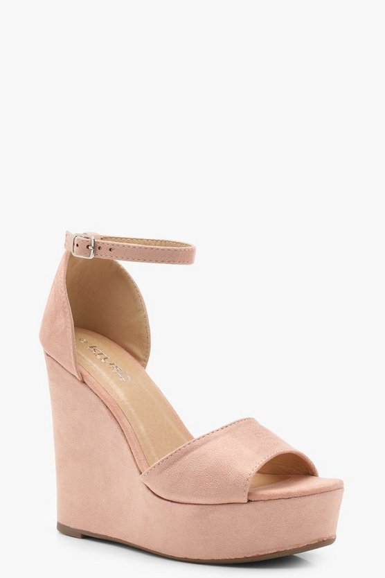 Megan High 2 Part Wedges