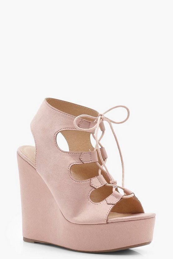 Evie Extreme Lace Up Wedges