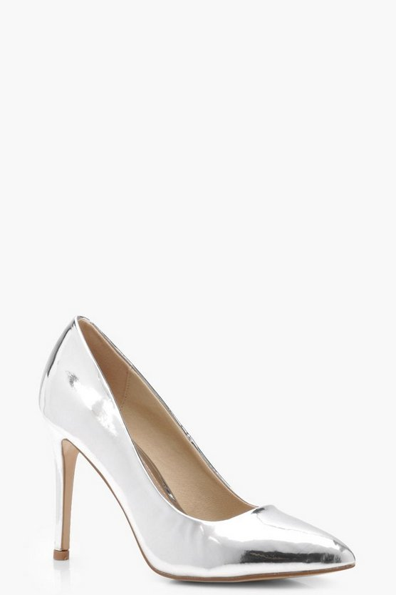Mirror Metallic Pointed Toe Courts