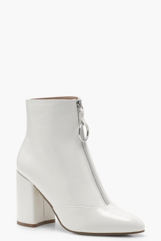 Lauren Ring Pull Crinkle Patent Shoe Boots