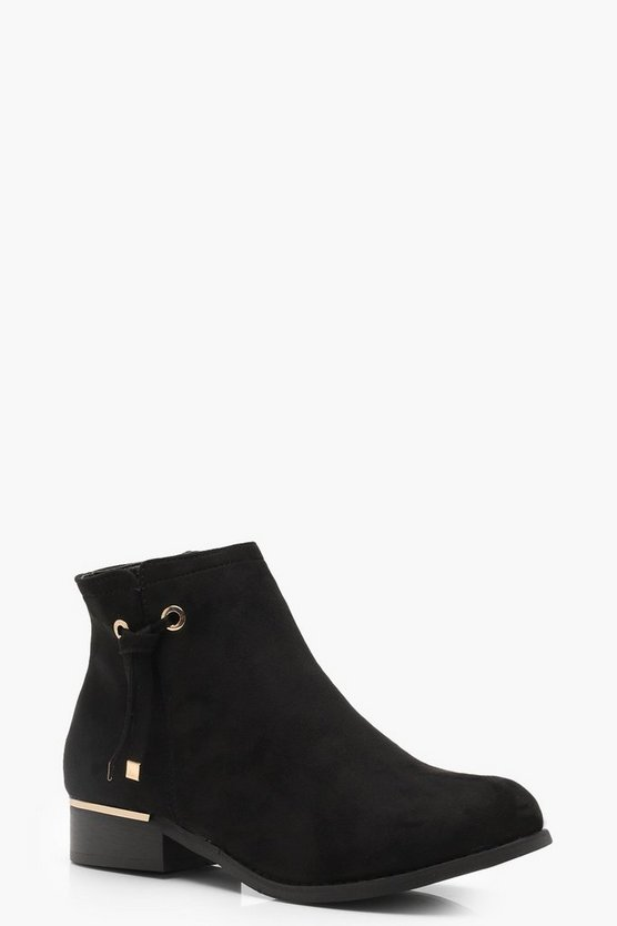 Emilia Metal Trim Chelsea Boot